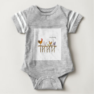 The lost duckling, chickens and duckling baby bodysuit