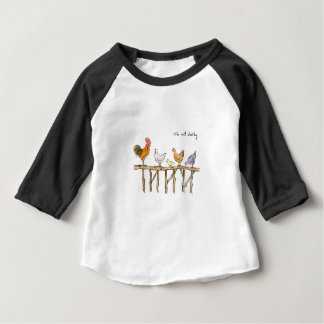 The lost duckling, chickens and duckling baby T-Shirt