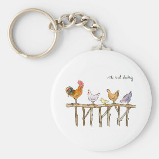 The lost duckling, chickens and duckling keychain