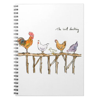 The lost duckling, chickens and duckling notebooks