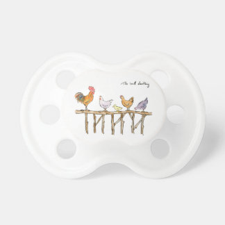 The lost duckling, chickens and duckling pacifier