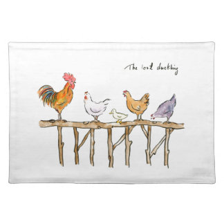 The lost duckling, chickens and duckling placemat