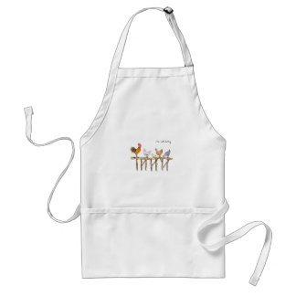 The lost duckling, chickens and duckling standard apron
