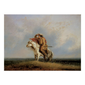 The Lost Greenhorn, Lost on the Prairie by Miller Poster