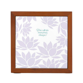 The Lotus Flower Collection - Inspirational Words Desk Organizer