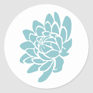 The Lotus Flower Sticker (turquoise)