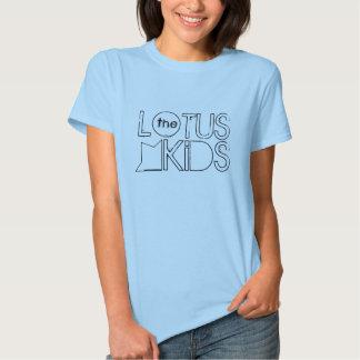 The Lotus Kids: Industrial Lotus Tee, Black/Blue Shirts