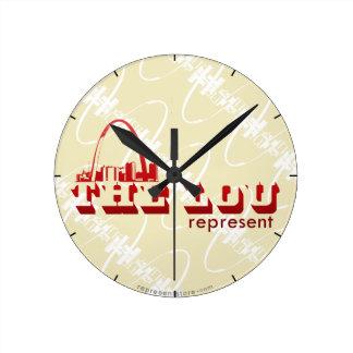 The Lou St. Louis Represent Clock