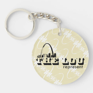 The Lou St. Louis Represent Double-Sided Round Acrylic Keychain