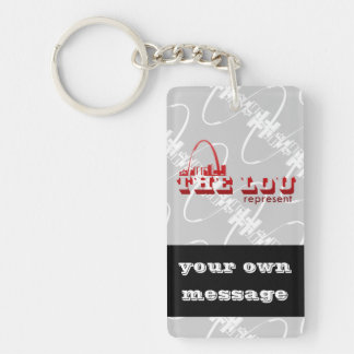 The Lou St. Louis Represent Double-Sided Rectangular Acrylic Keychain