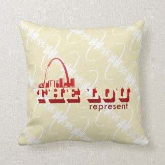 The Lou St. Louis Represent Throw Pillow