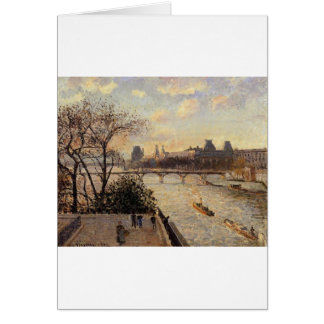 The Louvre and the Seine from the Pont Neuf Card