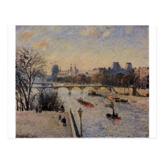 The Louvre by Camille Pissarro Postcard