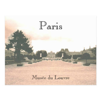 The Louvre Gardens Postcard