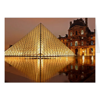 The Louvre Pyramid in the courtyard of the Louvre Card