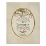 The Love Chapter, 1 Corinthians 13 Calligraphy Poster