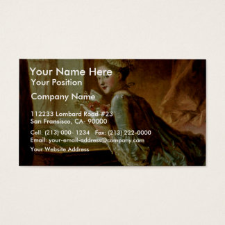 The Love Letter,  By Fragonard, Jean-Honoré (Best Business Card