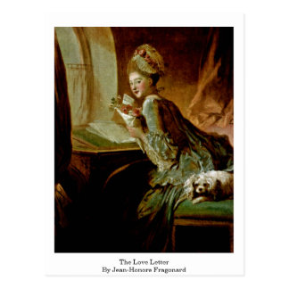 The Love Letter By Jean-Honore Fragonard Postcard