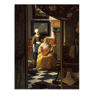 The love letter by Johannes Vermeer Postcard