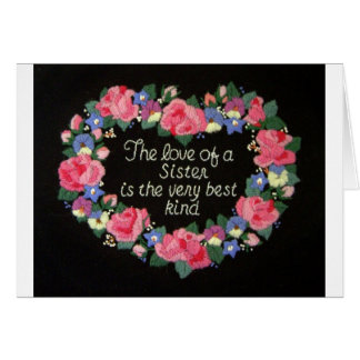 The Love of a Sister Card