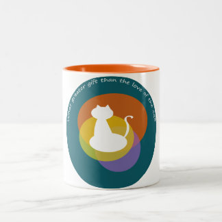 The Love of The Cat, Two Tone Mug