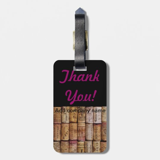 The Love of Wine Bag Tag