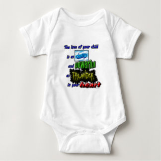 The love of your child is as deep and powerful... baby bodysuit
