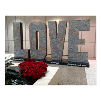 The Love Sign Regency Square Richmond Virginia Postcard