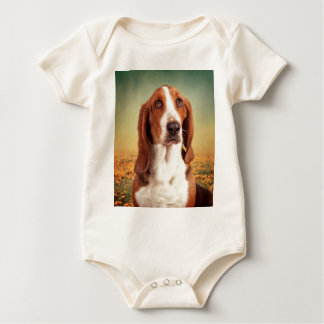 The Loveable Basset Hound Baby Bodysuit