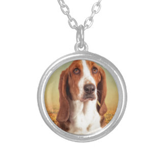 The Loveable Basset Hound Silver Plated Necklace