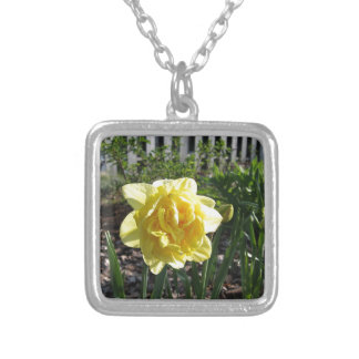 The Lovely Daffodil Silver Plated Necklace