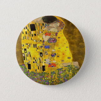 The Lovers Kiss After Klimt 2 Inch Round Button