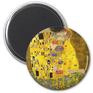 The Lovers Kiss After Klimt 2 Inch Round Magnet
