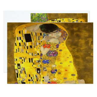 "The Lovers Kiss After Klimt 5"" X 7"" Invitation Card"