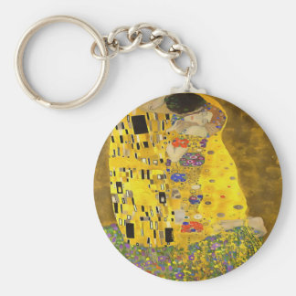 The Lovers Kiss After Klimt Basic Round Button Keychain