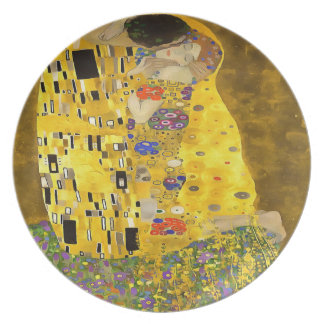 The Lovers Kiss After Klimt Party Plates