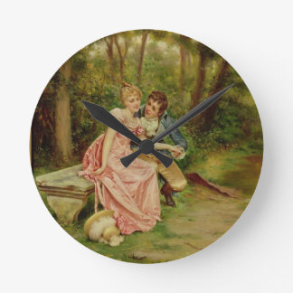The Lovers (oil on canvas) Wall Clocks