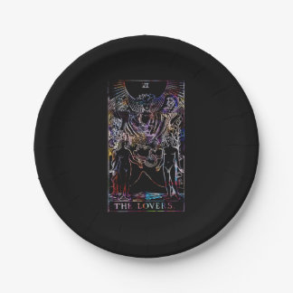 The Lovers Tarot Card Party Paper Plate