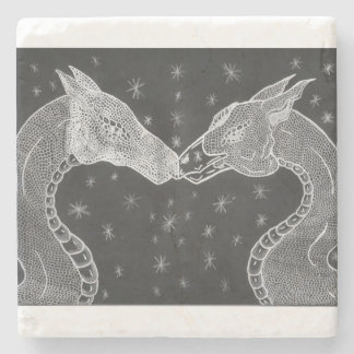The Lovers ( Two Dragons ) Coster Stone Coaster