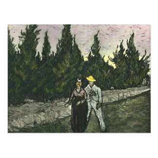 The Lovers Vincent Van Gogh Post Card