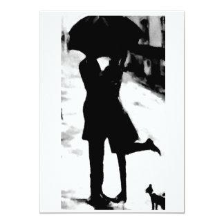 THE **LOVING COUPLE IN THE RAIN** INVITATION