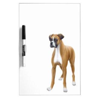 The Loyal Boxer Dog Dry Erase Board