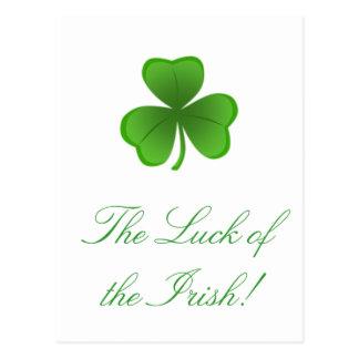 The Luck of the Irish Postcard