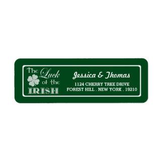The Luck Of The Irish St. Patrick's Day Return Address Label