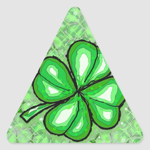 The Luck of the Irish. Triangle Stickers