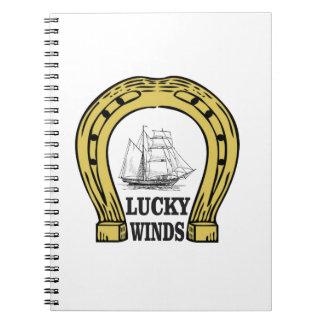 the lucky west winds spiral notebook