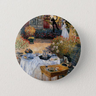 The Luncheon by Claude Monet 2 Inch Round Button