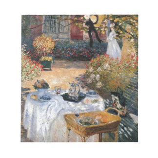The Luncheon by Claude Monet Notepad