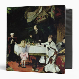 The Luncheon in the Conservatory, 1877 3 Ring Binder