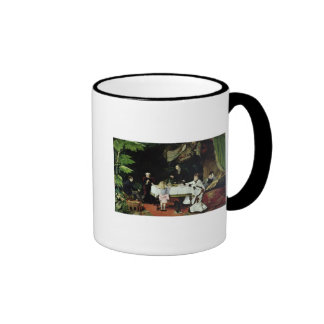 The Luncheon in the Conservatory, 1877 Ringer Mug